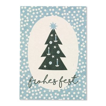 ava&yves Postkarte | Weihnachtsbaum | Frohes Fest