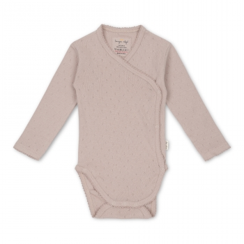 Konges Sløjd Langarm-Body Minnie, rose grey