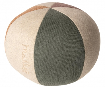 Maileg Stoffball dusty green | coral glitter