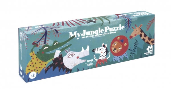 Puzzle My Jungle Londji Karton